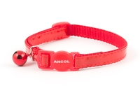 Ancol Gloss Reflective Cat Collar - Red x 3