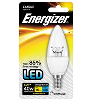 ENERGIZER LED 2.4W (25W) 250 LUMEN E14 FULL GLASS FILAMENT CANDLE LAMP WARM WHITE
