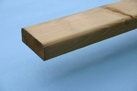 Decking / Fence Handrail D Profile Treated 100mm x 35mm 4.8M