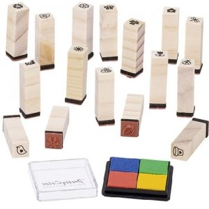 Stamps Spring Meadow 16 Stamps 1 Pigment Stamp Pad (Priced in singles, order in multiples of 1)