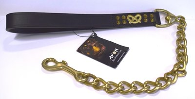 "Avon Bull Terrier Chain Lead - X-Heavy 24"" x 1"