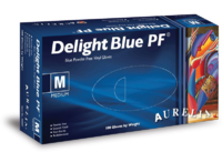 Delight Vinyl Disp Gloves Blue (100's)