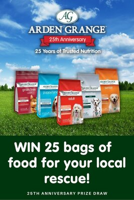 25 charities to WIN a food donation from Arden Grange