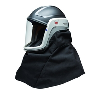 3M Versaflo Helmet M-407 features a flame resistant shroud for applications with hot particles