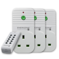 Energenie Pack of 3 Remote Controlled Sockets