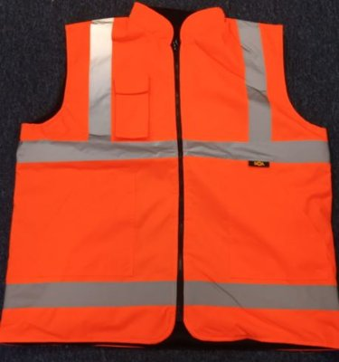 REDBACK Hi-Vis Reversible Bodywarmer Yellow or Orange