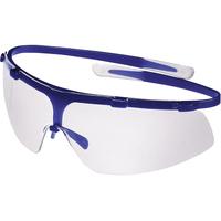 Uvex Superg Safety Glasses, Blue, Clear Lens