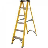 YOUNGMAN 6 STEP S/B F-GLASS LADDER YELLOW