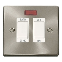 Click Litehouse DECO 20A DP Sink/ Bath Switch White insert