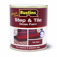 RUSTINS STEP & TILE PAINT RED GLOSS 1LTR