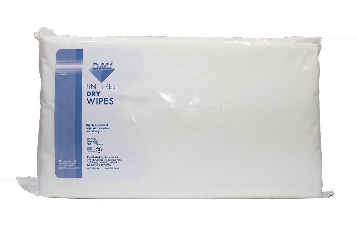 DMI Lint Free Dry Wipes 50pk