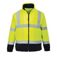 Portwest Hi-Visibility 2-Tone Fleece Hi-Vis Yellow/Navy
