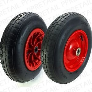 Red P-Handle Hand Truck Spare Wheel 10""