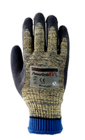 PowerGrab Kevlar Cut 5 Microfinish Glove Blue/Yellow