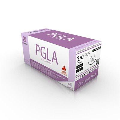 VetSuture   PGLA 3/0 (2 Metric), 24mm 3/8 Rev Cut, 90cm Length (12)