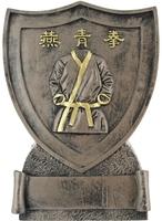 11cm Martial Arts Shield - Bronze/Gold Trim |