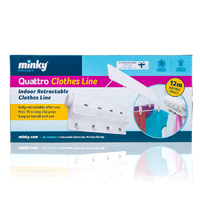 Minky 4 Line Pull Out Clothes Airer