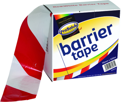70MM X 500MT RED/WHITE BARRIER TAPE