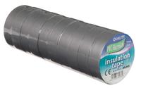 Vires Elec PVC Tape Grey 19mm x 20M