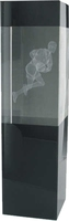 22cm Gaelic Footbal Crystal Award