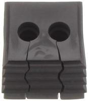 KDS-DE 2X5-6 BK - Seal, black with multiple h