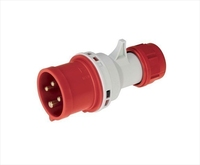 IP44 Quick Assembly Straight Plug 3 Pin + Neutral + Earth 380-415V 32A