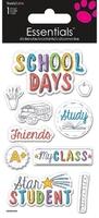 >< School Days Essential Craft Sticker.