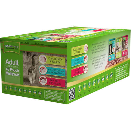 Natures Menu Cat Pouch 100g - Multipack 48-Pack x 1