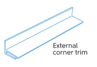 2.50m - 1 PART EXTERNAL CORNER WHITE