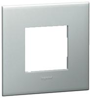 Arteor (British Standard) 1 Gang 2 Module Square Pearl Alu | LV0501.0115