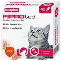 Beaphar FIPROtec Cat Flea Drops - 4 Tube x 1