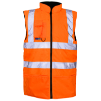 Hi Vis Padded Bodywarmer EN471 Orange