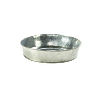 Galvanised Steel Serving Platter 220mm Diameter x 50mm