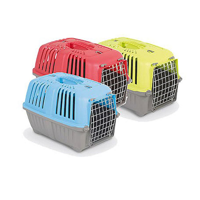"Lazy Bones Pratiko 1 Plastic Pet Carrier - Medium 19"" x 12"" x 11"" x 1"