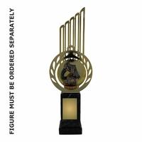 33cm Flex Trophy with Metal Backdrop