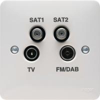 Quadplexer -TV, FM/DAB, SAT1, SAT2 Outlet | LV0301.0603