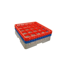 Glass Rack 25 Compartment with 2 Red Extenders