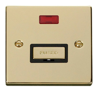 Click Deco Victorian Polished Brass with Black Insert Fused Spur with Neon | LV0101.0184