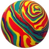 "Dog Life Floaties Rubber Swirl Balls 3"" x 12"