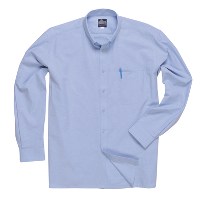Portwest Oxford Shirt Long Sleeve Blue