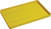 PERFECTION INSTRUMENT TRAYS PLASTIC YELLOW WITH RACK