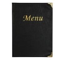 Basic Menu A4 Black - 8 Page