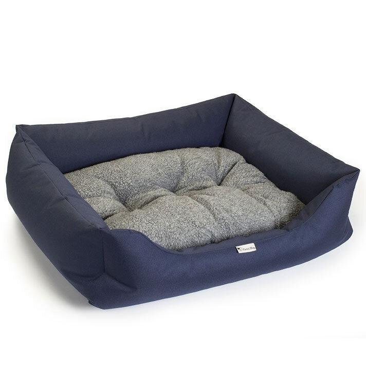 Chilli Dog Waterproof Sofa Bed Navy 90 x 75cm