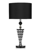 Hudson Table Lamp, K9 Crystal Black/Clear Complete with Shade | LV1802.0138
