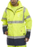 BD109 Breathable Hi Visibility Two Tone Traffic Jacket EN471