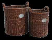 Honey Wicker Rnd Basket Set Of 2
