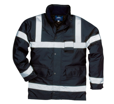 PORTWEST S433 Iona Lite Jacket Navy c/w Reflective Strips