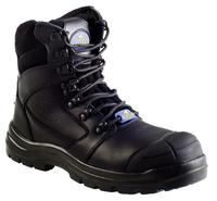 Mustang 7110 Nitrile Sole 300°C Lace Up Safety Boot with Scuff Cap Black