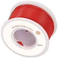 Electronic Wire Tinned Copper 300Meters Spool Red
