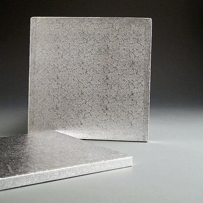 """Silver Cake board 8"""" x 1/2"""""""